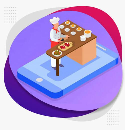 طراحی اپلیکیشن سفارش غذا